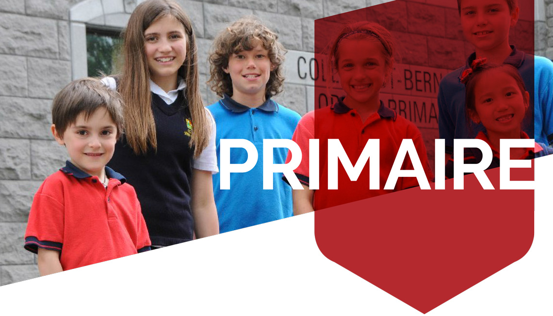 Programme du primaire Collège Saint-Bernard