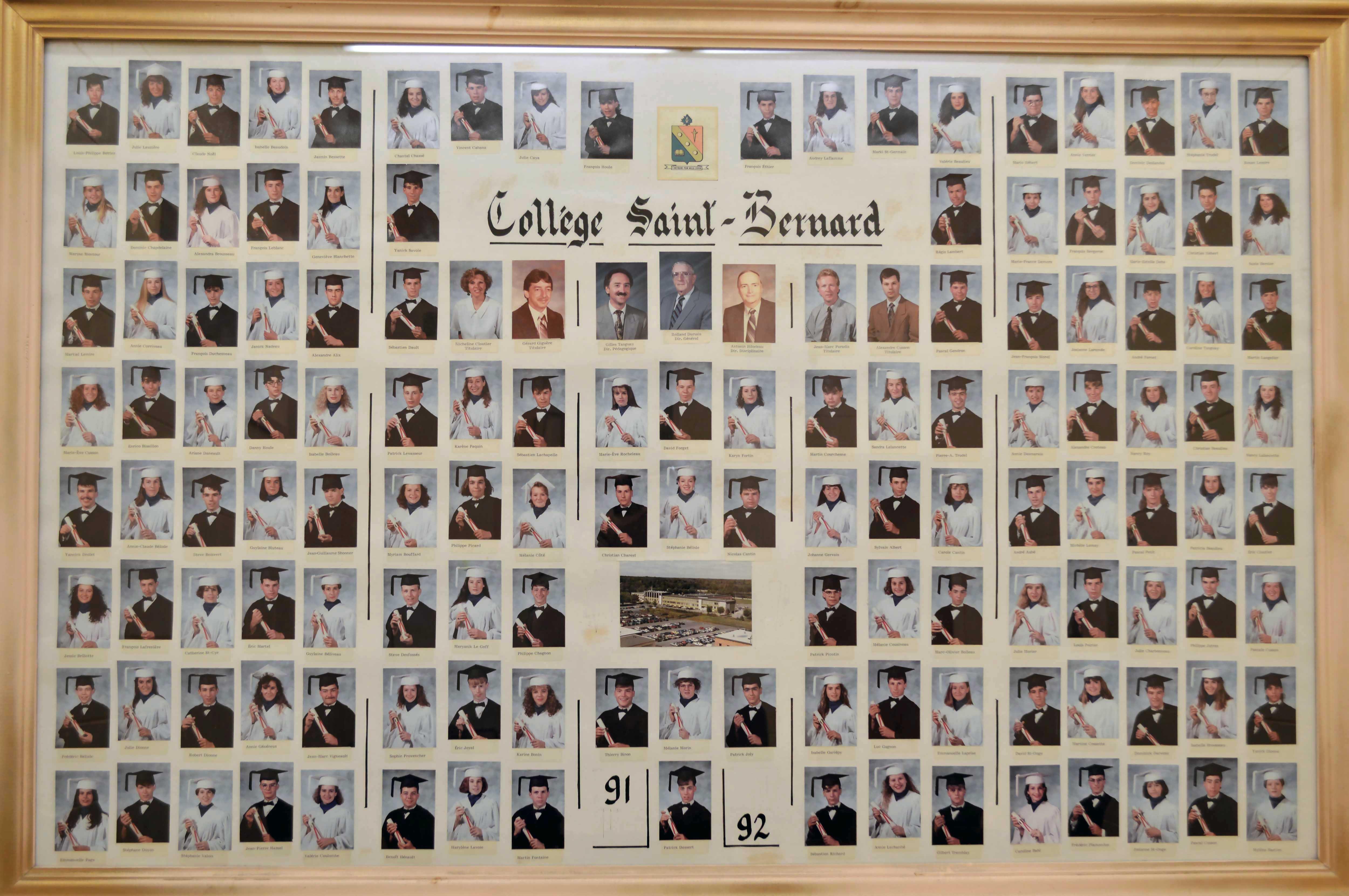 College-Saint-Bernard_Graduations-1991-92