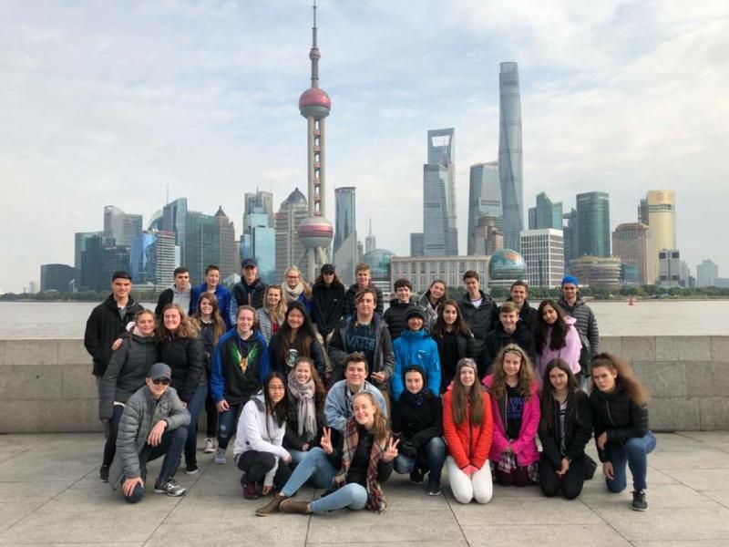 Des élèves du CSB pendant un voyage étudiant.