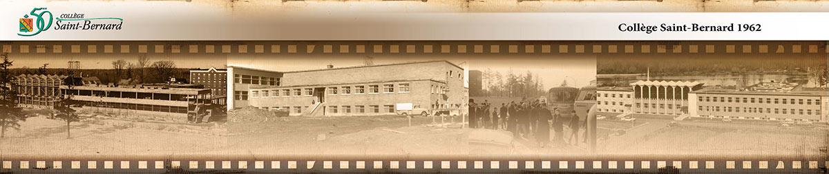 Historique - Construction collège Saint-Bernard en 1962