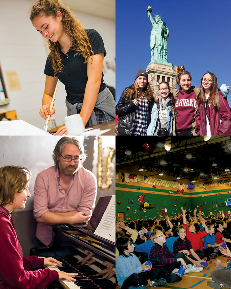 Le Collège Saint-Bernard offre une vie scolaire dynamique à ses étudiants.